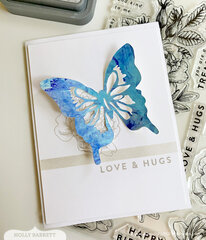 Alcohol Ink Butterfly Card