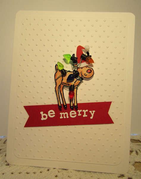 Be Merry! Reindeer Card