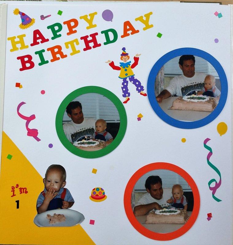 Sammy's 1st birthday 1/2