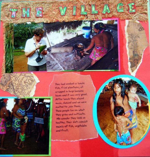 Tusipono. The Embera village