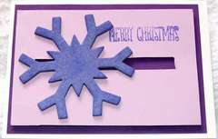 Purple merry christmas card