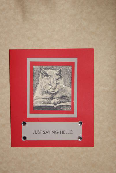 cat stamp card