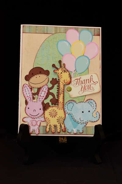 Stuffed Animals Thank You Card