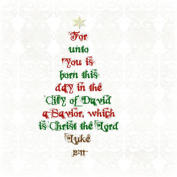 For unto you is born this day....