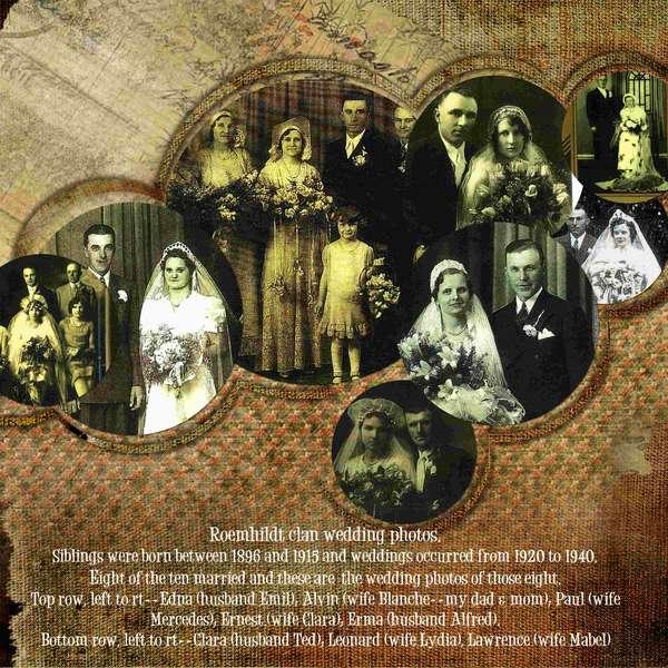 Family wedding collage