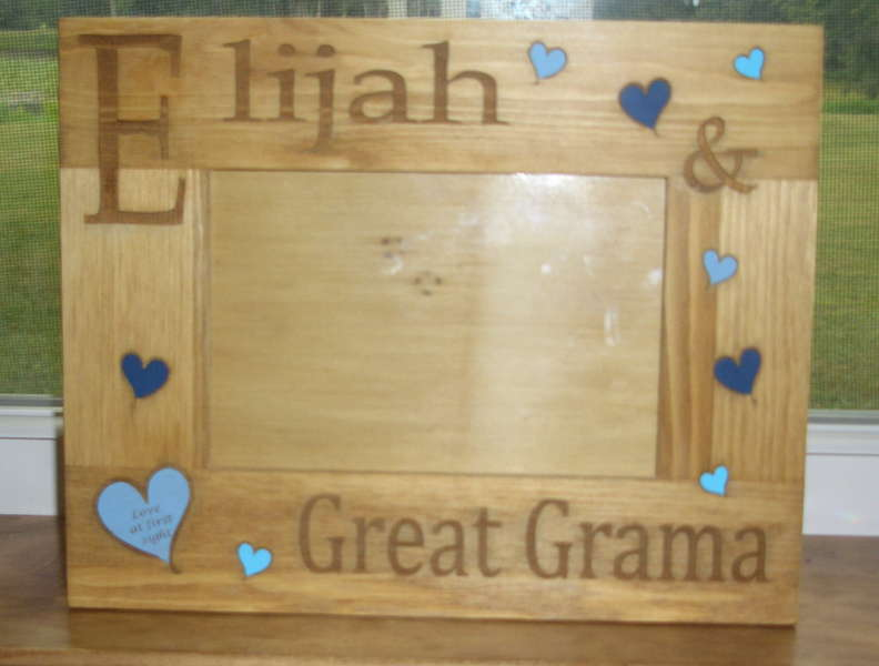 Etched picture frame for my mom