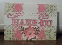 Pink flower TY card