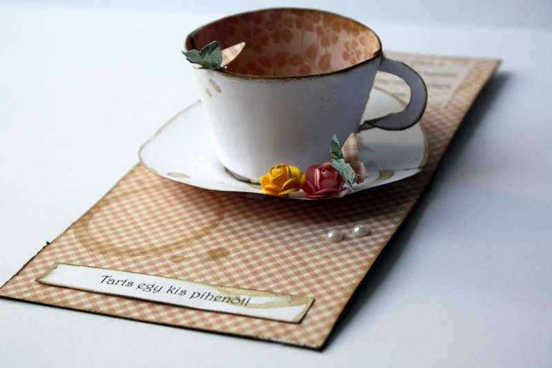 Have a break, have a .... TEA ~ POP UP 3D card