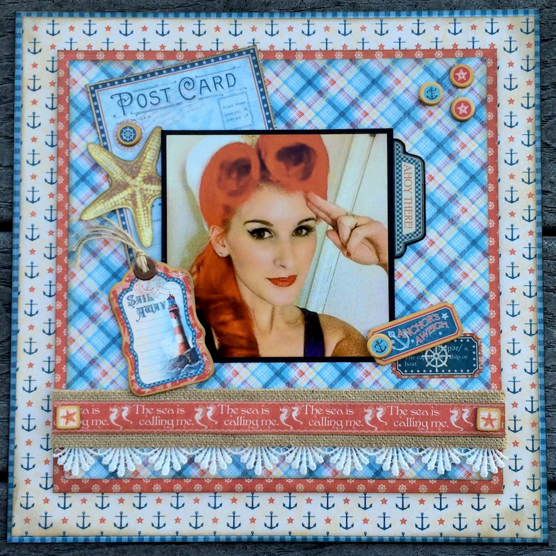 Graphic 45 By the Sea 12x12 Layout
