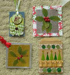 Christmas tags and one giftcard bag.