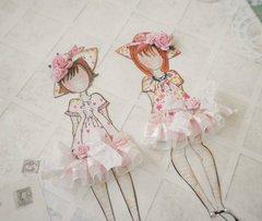 Handmade Prima Julie Meda Paper Dolls