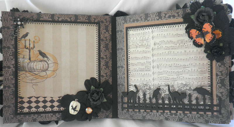 Shabby Chic Halloween Black Bird Pages
