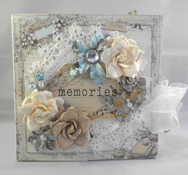 Shabby Chic Pixie Fairy Baby Scrapbook Album