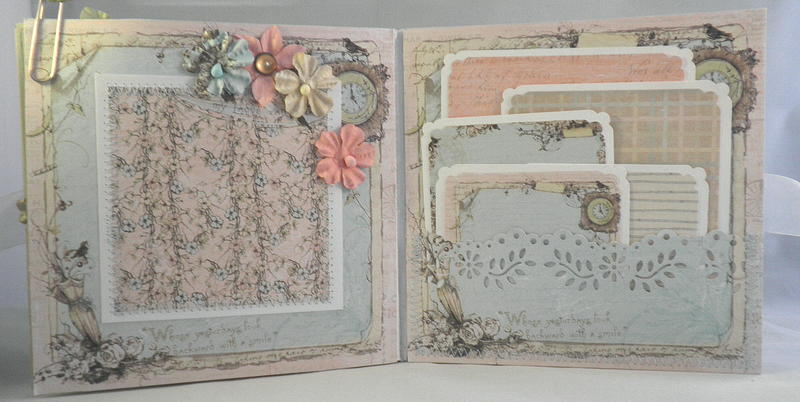 Shabby Chic Paper Lace Pocket Page Tags
