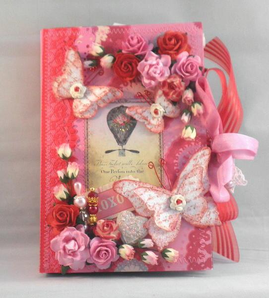 Shabby Chic XOXO Valentines Scrapbook Album