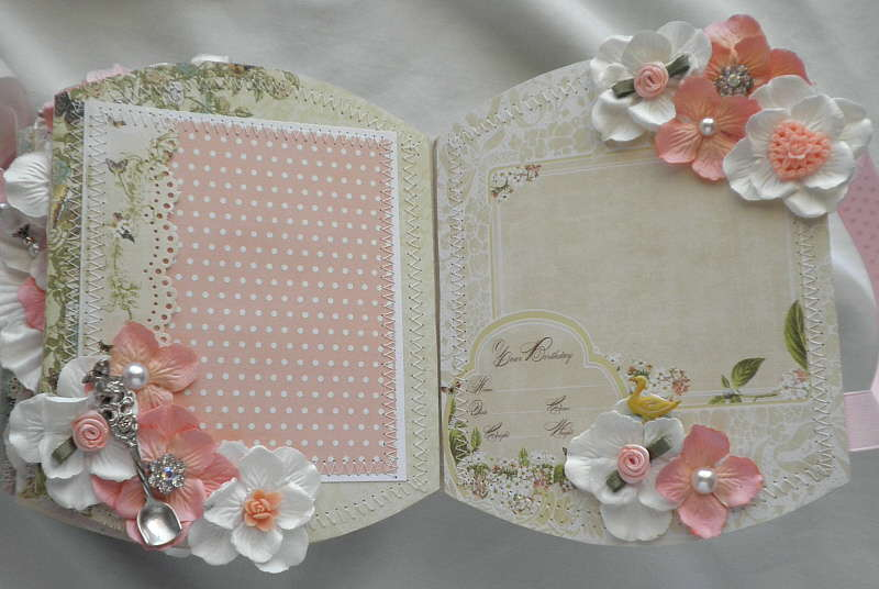 Shabby Chic Little Girls' Album Pages 1 and 2