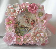 Shabby Chic Fairy Paper Bag Scrapbook Album