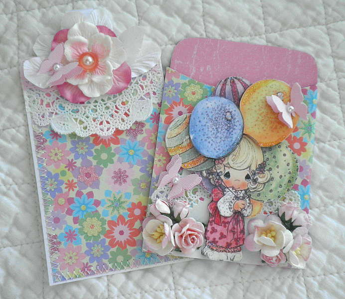 Birthday Girl Lace Pocket and Card Tag