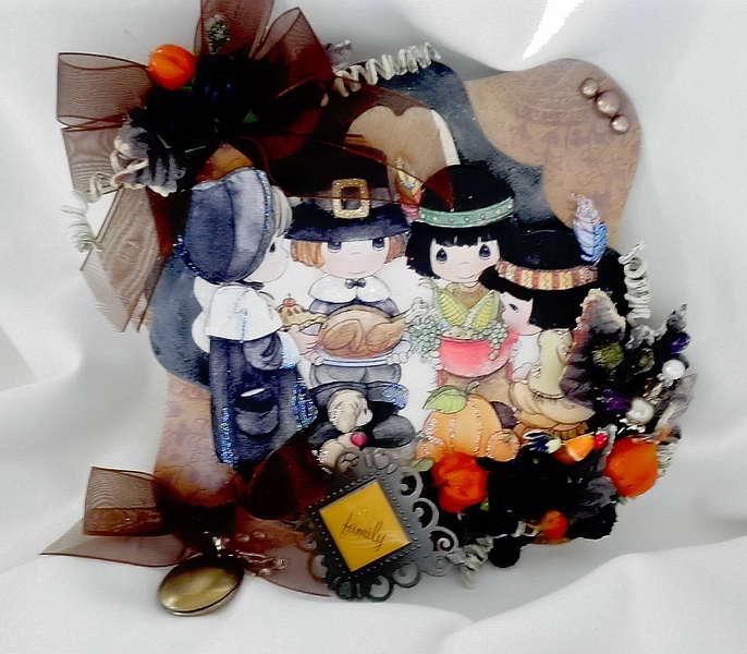 Thanksgiving Blessing Card/Album Topper