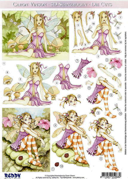 Fairy Die Cut Sheet Ebay Big Sale