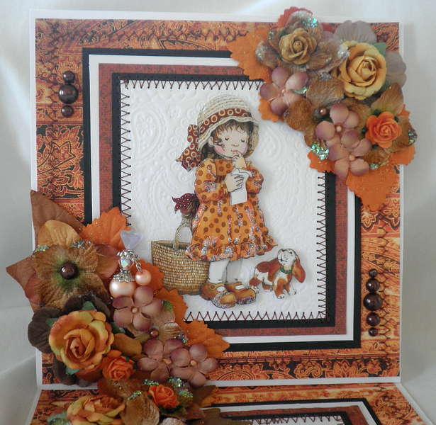 Fall Thanksgiving Lil Girl Card