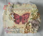 Spring Beauty Shabby Chic Purse Album