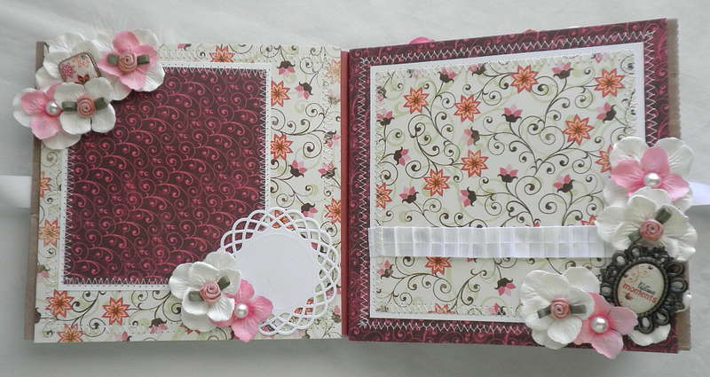 Shabby Chic flower ribbon page layouts 5-6