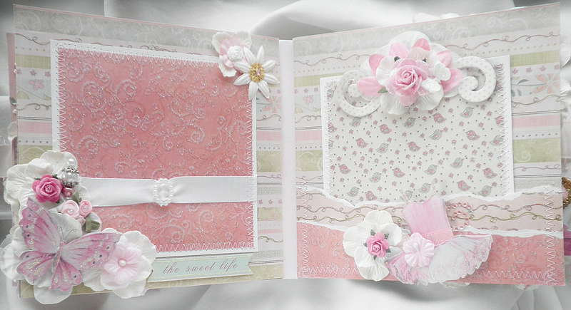 Shabby Chic Butterfly Rose Pages