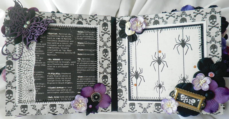 Shabby Chic Bat-Butterfly Pages Halloween