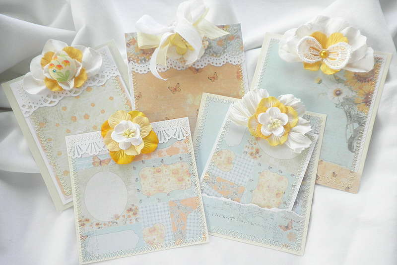Country Shabby Chic Spring Time Card Tags
