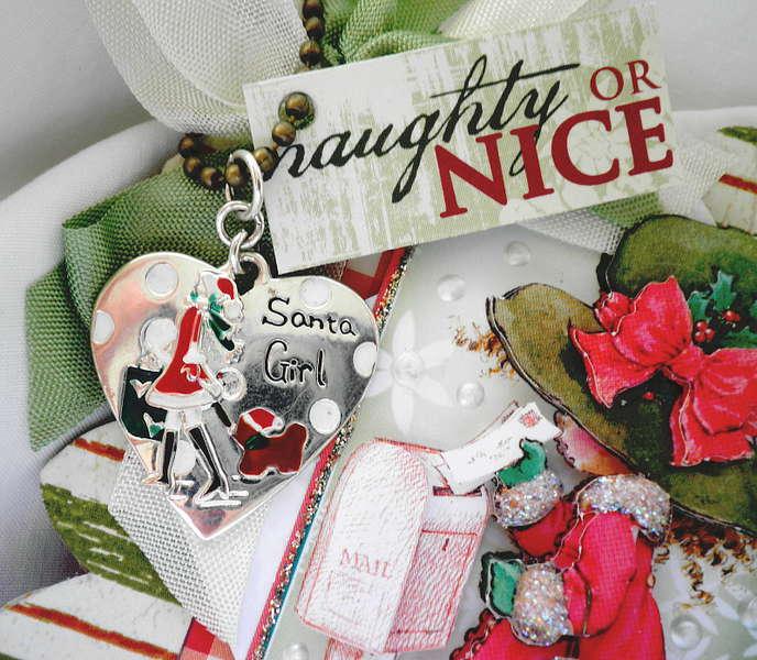 Santa Girl Card/Album Silver Charm