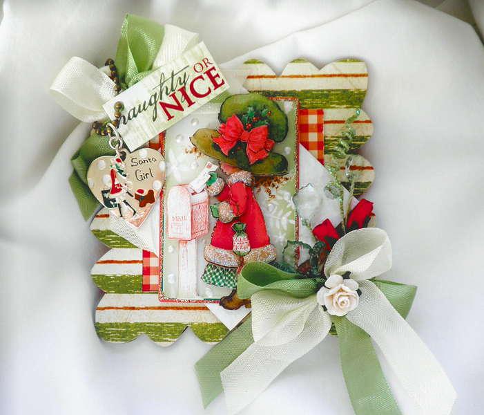 Card/Album Christmas Topper/Ornament