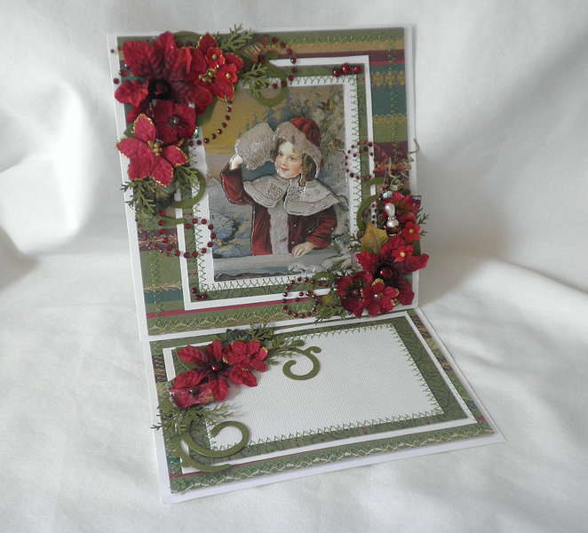 Shabby Chic Old~Time Christmas Card