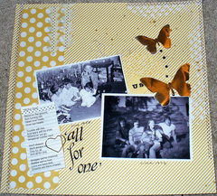 music inspiration challenge & cricut challenge - All for one