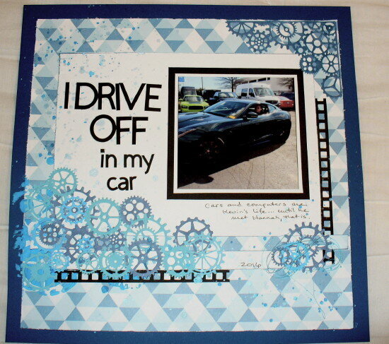 I drive off in my car