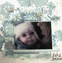 Let it snow -Music Inspiration, diecut & sketch challenges