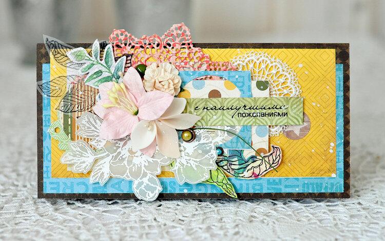 floral envelope Best wishes