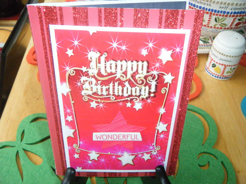 Wonderful Birthday Card -- Front View