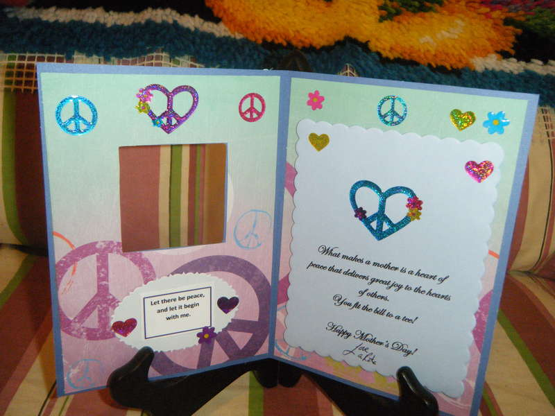 Mother of Peace Mother's Day Card -- Inside View