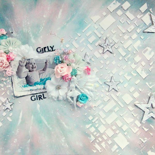 ***Flying Unicorn*** 13 Arts Paper Spotlight- Girly Girl