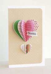 Heart-Air Balloon Card