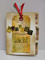 Tim Holtz Distressed Tag on mini album