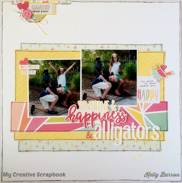 Sunshine, Happiness & Alligators *My Creative Scrapbook*