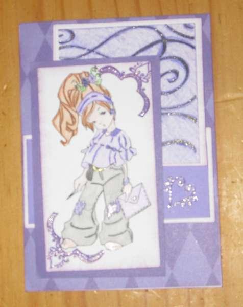 Purple Card I've made May 2012