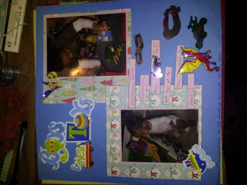 geordans first scrapbook page