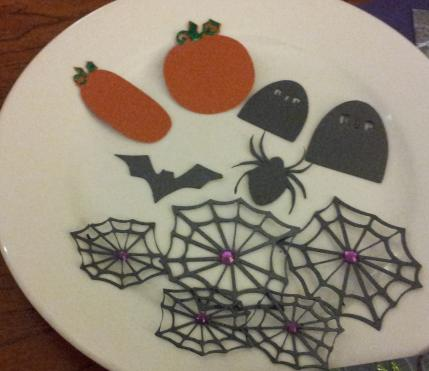 Embellishments for Oct Kit Challenge-Halloween