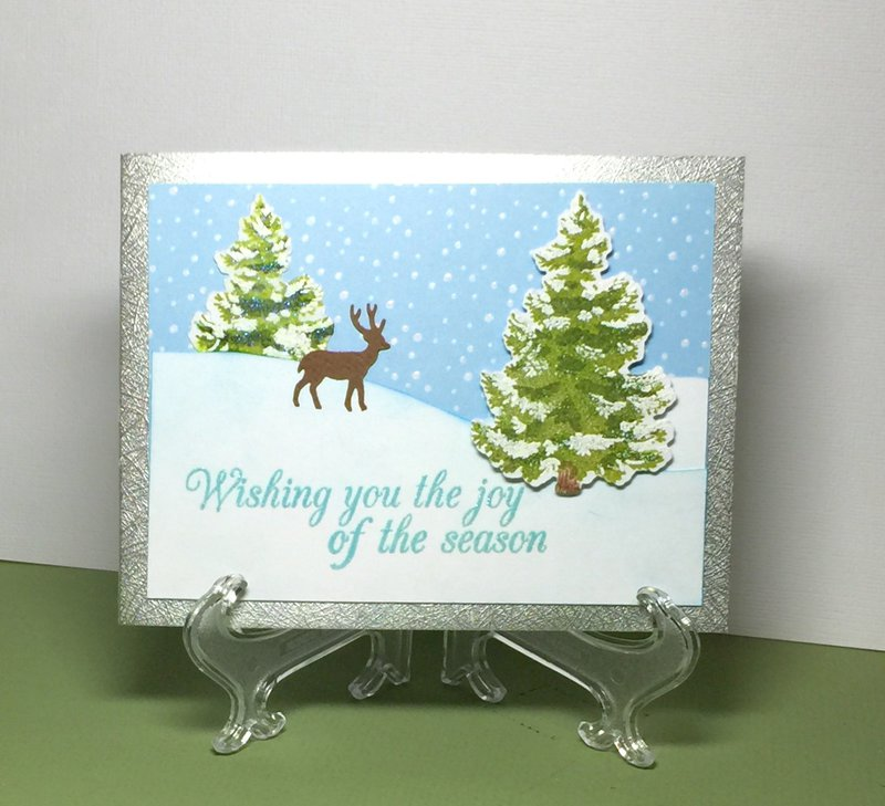 Snow and Trees Card