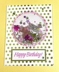 Happy Birthday Shaker Card