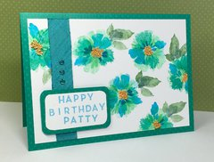 Birthday Card; layered stamping