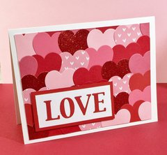 Valentine Layered Hearts Card